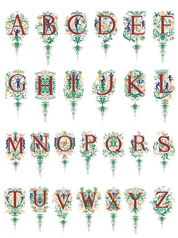 vector alphabet, beautiful vector alphabet, color vector