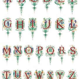Beautiful vector alphabet free download