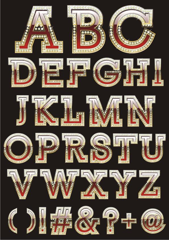 векторные буквы, векторный алфавит, alphabet vector