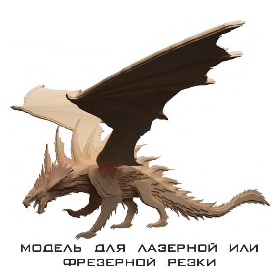 laser cut models Dragon, 3d models