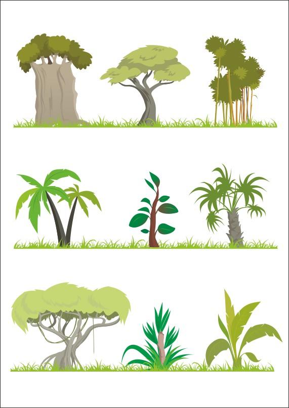 векторные деревья, деревья прозрачный фон, дерево векторный клипарт