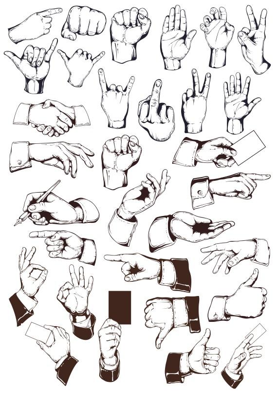 руки в векторе, кисти рук вектор, руки вектор скачать