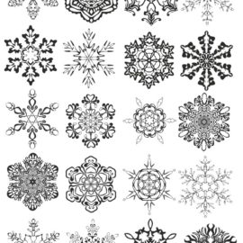 Snowflakes vector, png transparent background # 01
