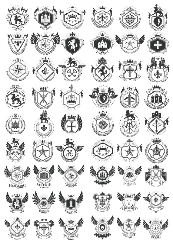 Vector heraldry free download, heraldic vector, heraldic shield