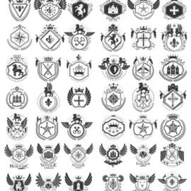 Vector heraldry free download collection # 03.