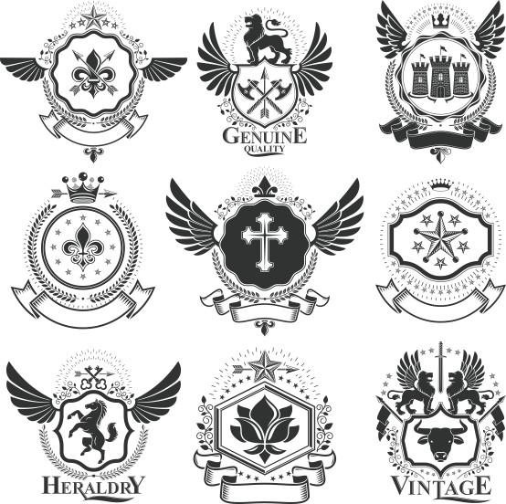 Heraldic Vector Free Download Compilation 04 52 Heraldic Elements
