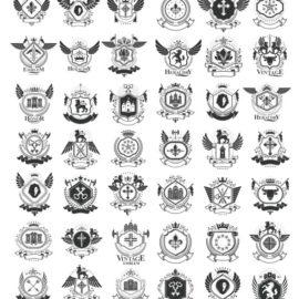 Heraldic vector free download: Compilation # 04
