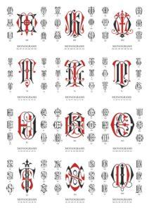 векторные монограммы, красивые буквы