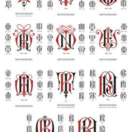 Монограммы векторный клипарт: сборник #06