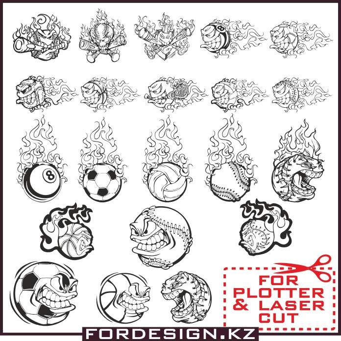 vector ball, tatu-vector, sport vector, sticker vector