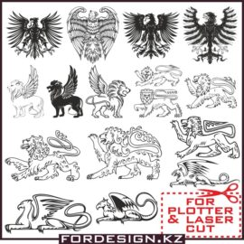 Animals in Heraldry vector: Heraldry clipart Collection # 6 free download