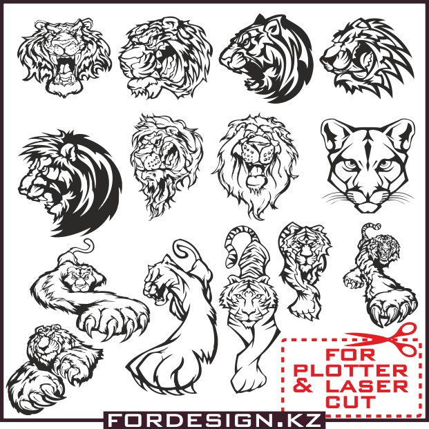 Tiger vector, animals vector, lion vector, tatu vector