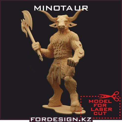 laser cut model, Download the laser cut model, minotaur