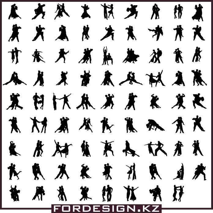 Dance silhouettes vector, dance vector, vector silhouettes, dance silhouettes