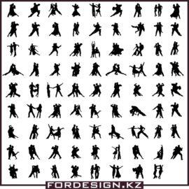 Танцующие силуэты вектор: Силуэты бальных танцев скачать бесплатно!