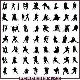 Силуэт бальные танцы в векторе: Коллекция танцевальных силуэтов №2 скачать бесплатно!