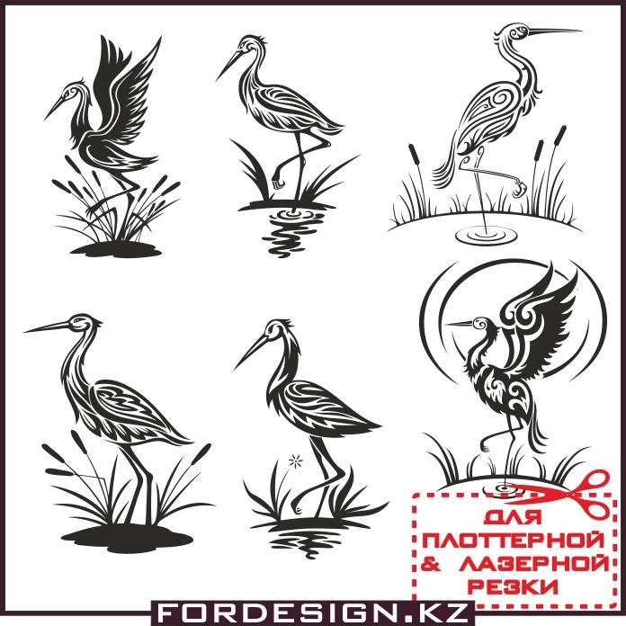 аист в векторе, аист вектор, цапля вектор, птица вектор, птица узор, макеты для плоттерной резки
