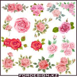 Роза вектор скачать: Красивые векторные розы.