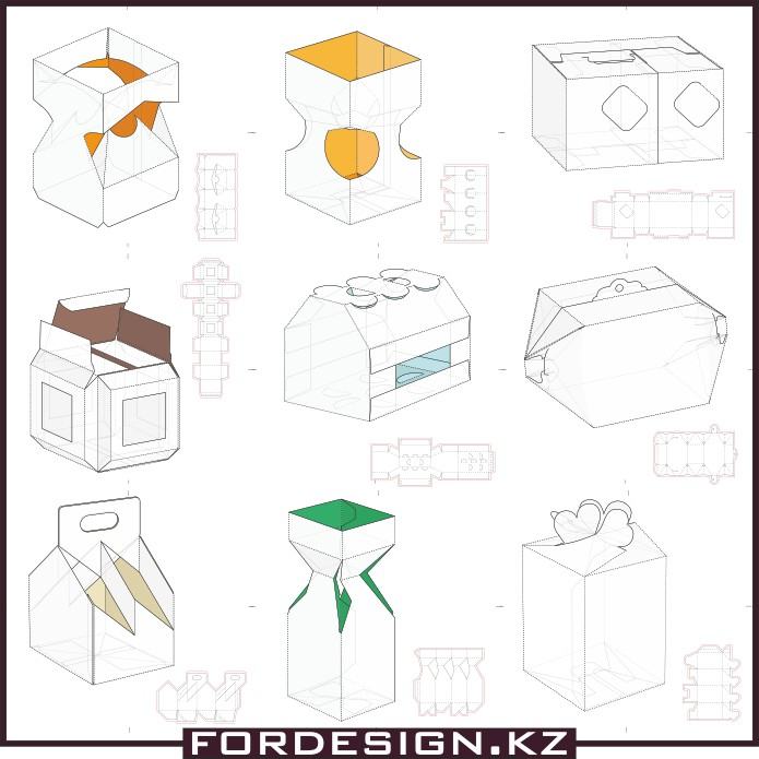Sketch of the box, Mockup box, box models, model of the box, template box