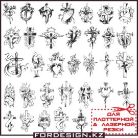 Крест вектор: Векторные православные и католические кресты большая подборка.