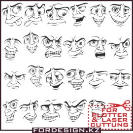 Face Vector Mens Part 1: Vector Smileys download free!