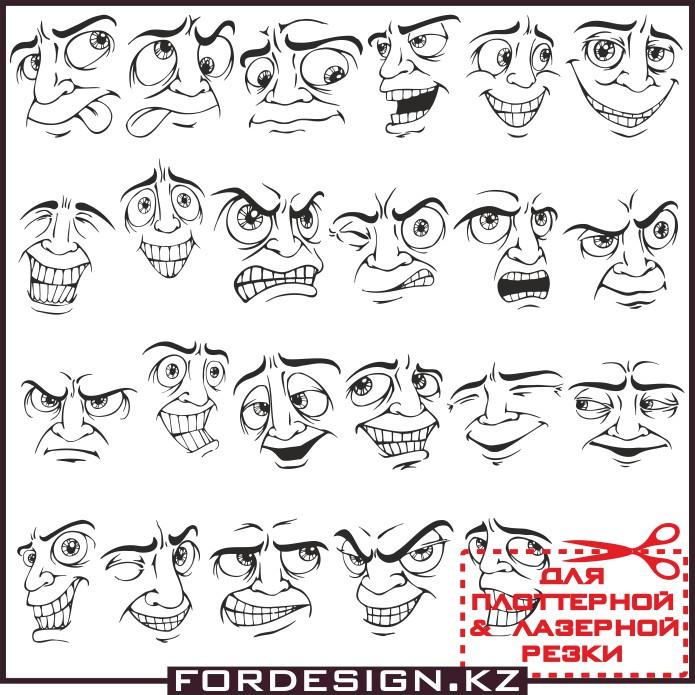 лицо вектор, векторные смайлы, векторные эмотиконы, мужское лицо вектор, векторные лица