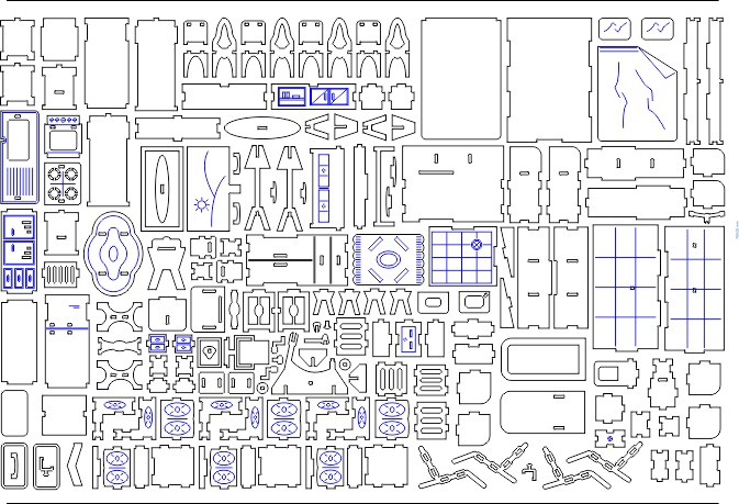 Dollhouse Drawing A Model For Laser Cutting Download Cdr Dxf
