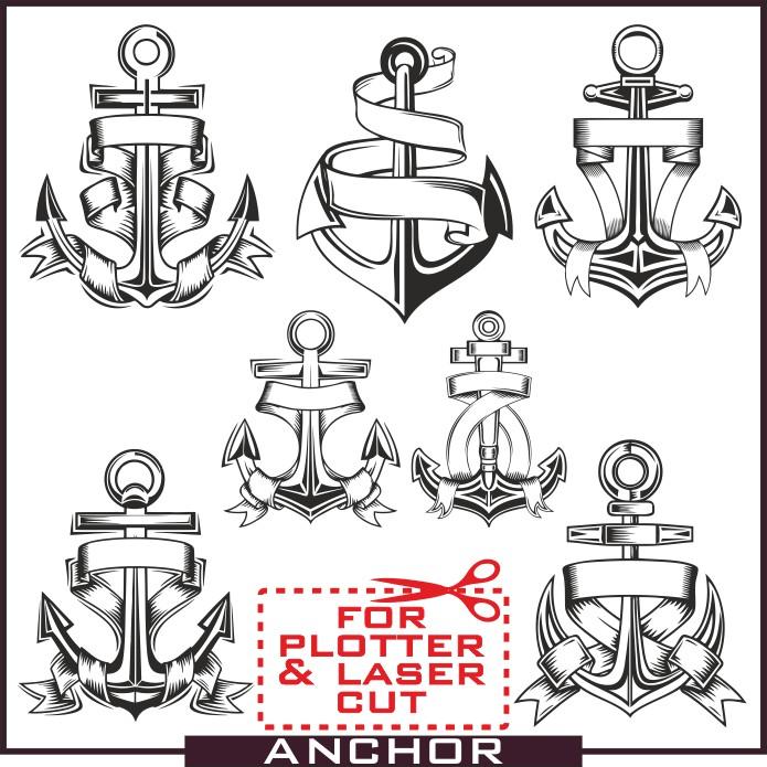 Anchor vector, vector anchor, for plotter, anchor in vector, free download, anchor vector clipart, tattoo anchor, anchor tattoo