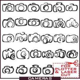 Camera Vector: A large collection of camera icons.