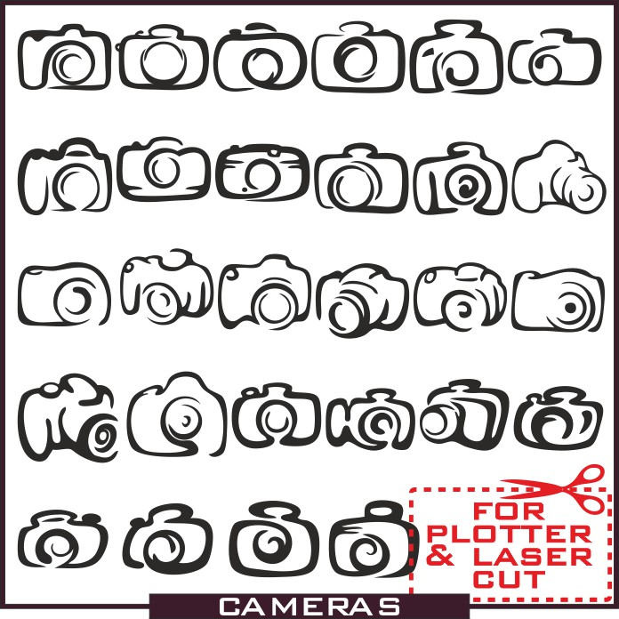 Camera icons, vector icons, camera vector, camera pictures download, black and white vector, silhouette photo, camera silhouette, photo vector, free vector
