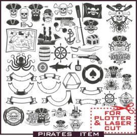 Pirates Emblem vector images free download.