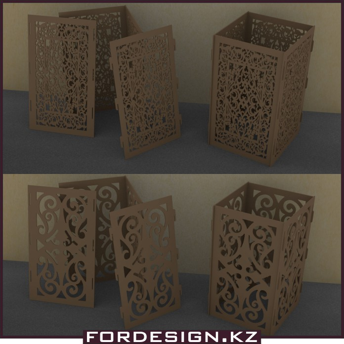 Boxes for laser cutting