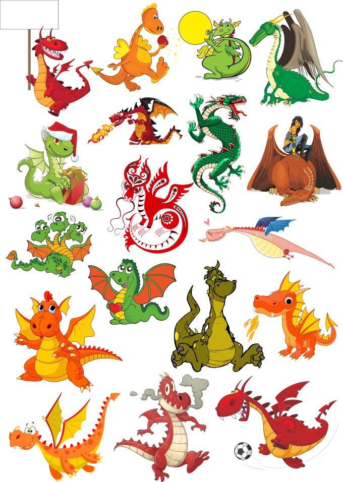 Vector dragons, dragons in vector, download free, vector images