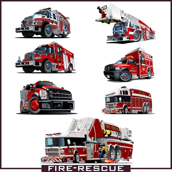 Fire truck vector, fire cars, fire truck download, wheelbarrows fire, Fire machine
