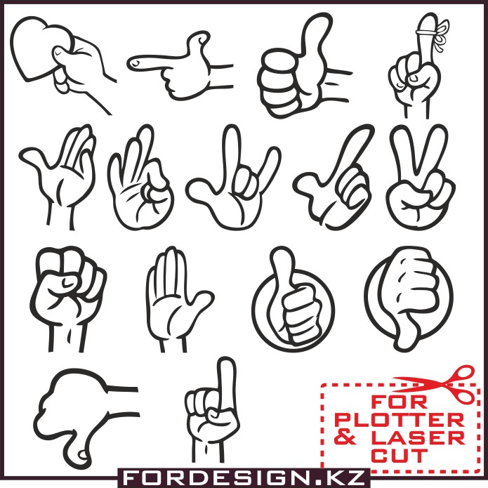 Hand vector clipart
