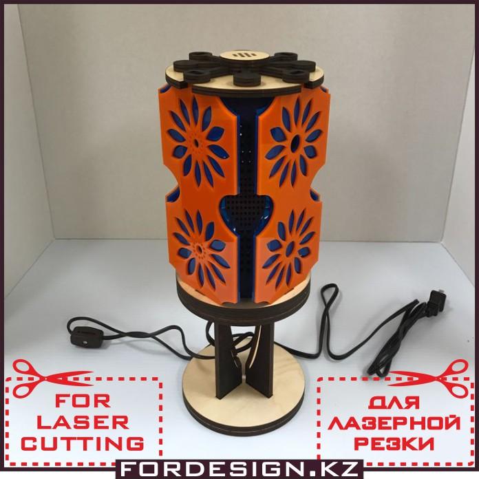 макет лампы, лампа вектор, макет для лазерной резки, сборник макетов, векторный макет