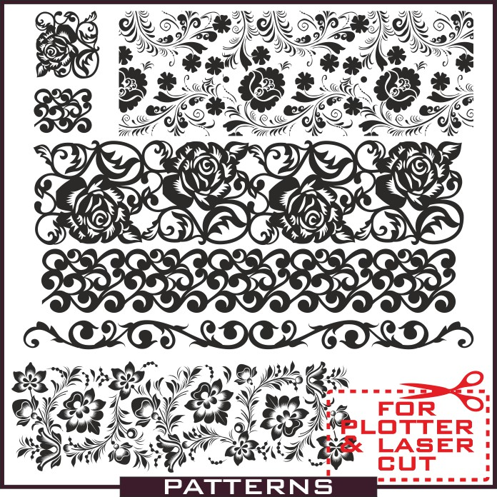 Patterns in vector, vector patterns, patterns download, patterns for sandblasting, patterns for walls