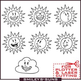 A selection of solar emoticons