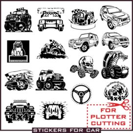 Stickers 4×4 in vector free download. Collection # 2