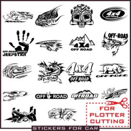 Layouts of stickers on an off-road car Part 5