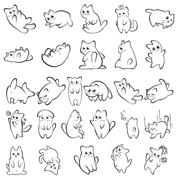 Kitten vector, vector kitten, free download, vector images
