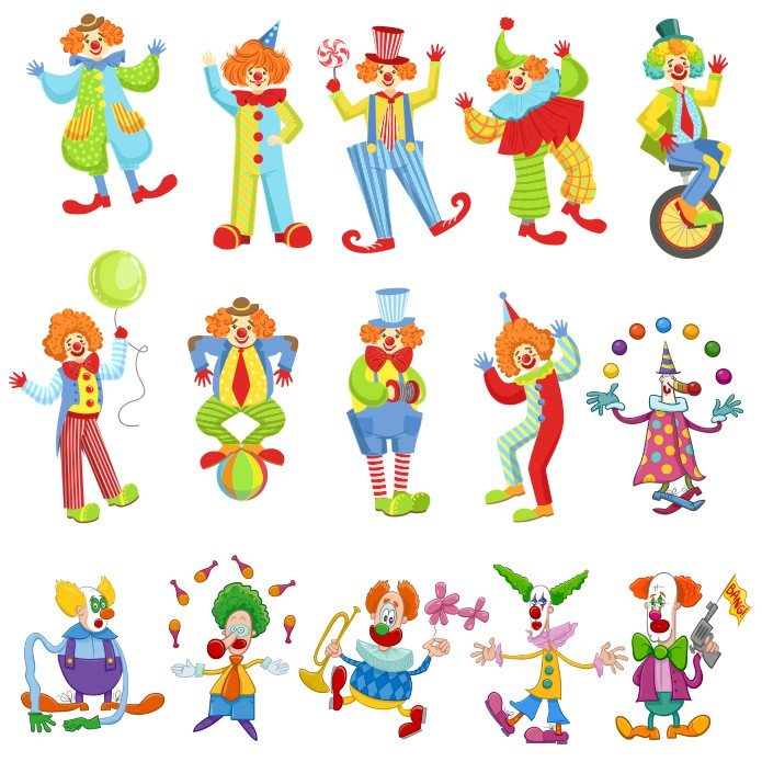 картинки клоунов, клоун вектор, клоуны каринки скачать, скачать бесплатно, векторный клипарт, векторные изображеия