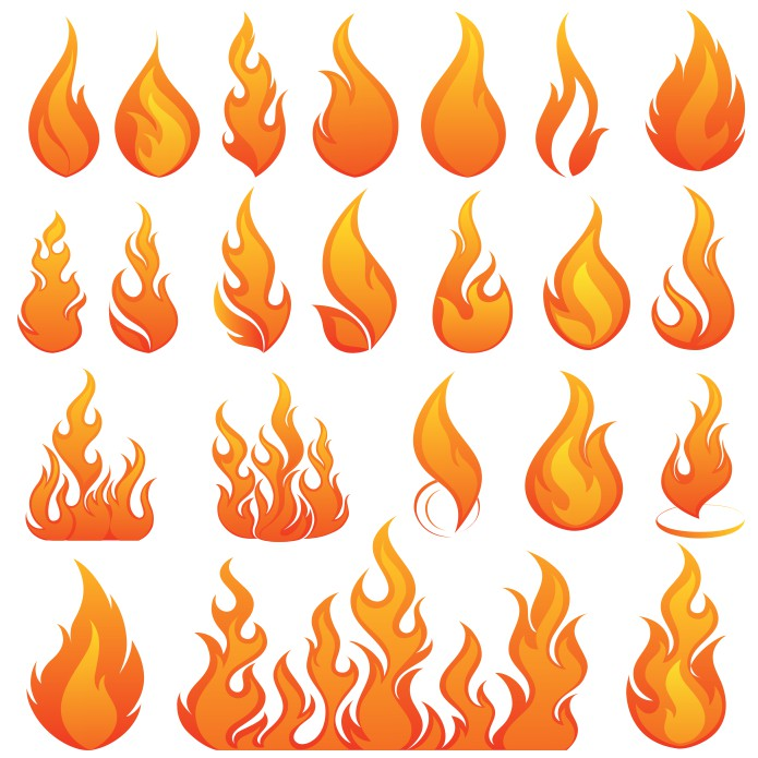 fire vector, flame vector, free download