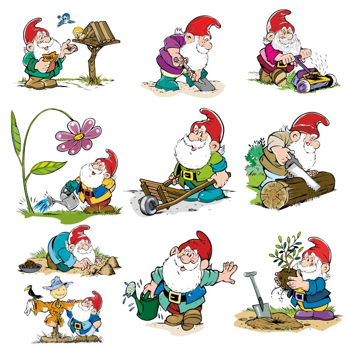 Gnome vector, vector gnomes, gnomes picture, free download, vector images