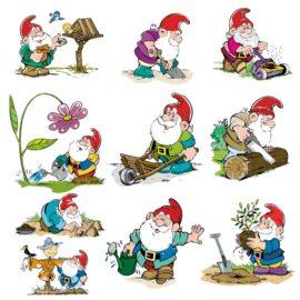 Веселые гномы: сборник детских иллюстраций