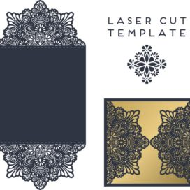Vector template of the envelope №006