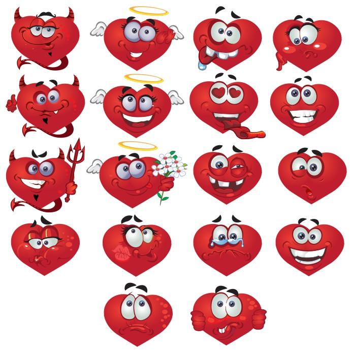 смайлик сердечко, смайлики сердечки картинки, векторные смайлы, скачать бесплатно, векторные изображения