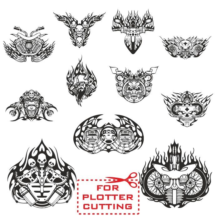 Moto stickers, vector sticker stickers, motorcycle stickers, free vector cliparts
