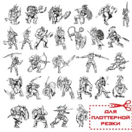 Большой сборник векторных воинов-викингов.