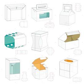 Векторные макеты коробочек сборник №9